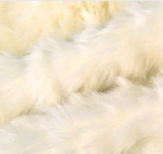 Winter White Faux Fur Fabric 148cm Wide x 0.5m